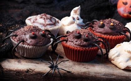 Рецепт на Хэллоуин: Кексы Веселые паучки