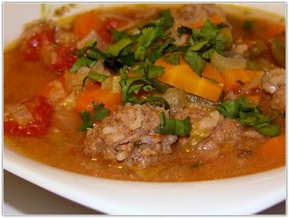 Овощной суп с фрикадельками