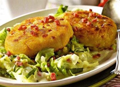 Биточки картофельные с рыбой