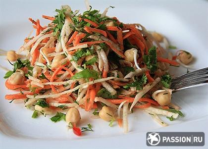 Салат с проростками нута