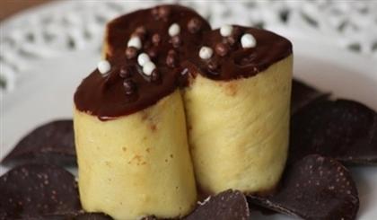 Блинчики с шоколадной начинкой