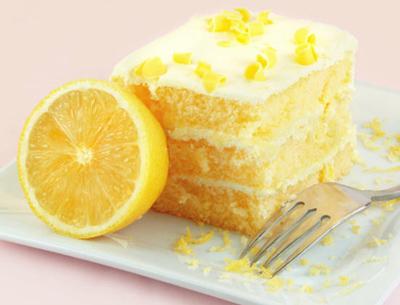 Лимонный торт с кремом