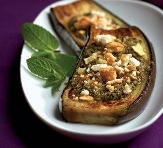 Холодная закуска из баклажанов с мятой
