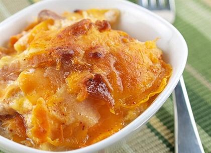 Картофельный гратен с яблоками