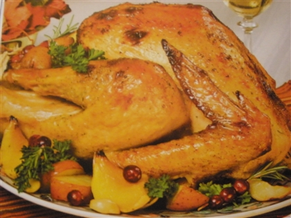 Курица с курагой и апельсинами