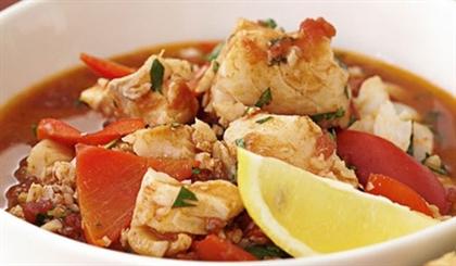 Рыбное рагу с рисом