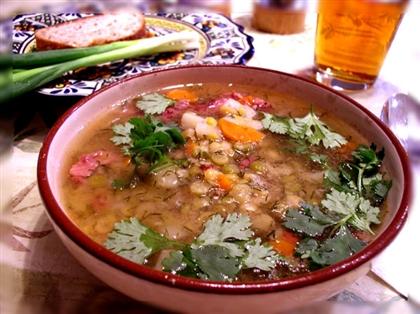 Суп с шампиньонами и овсяной крупой