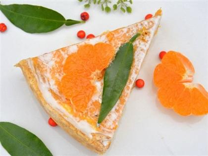 Пирог с тыквой из слоеного теста