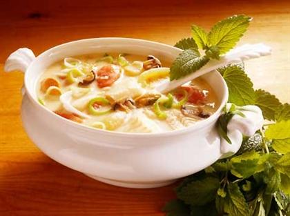 Овощной суп с мятой