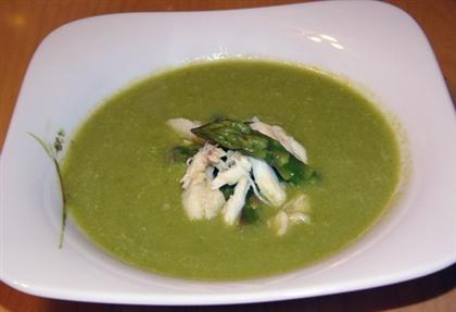 Холодный суп из спаржи
