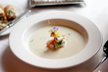 Суп из овощей и горгонзолы