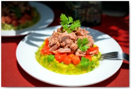Салат из тунца с цуккини