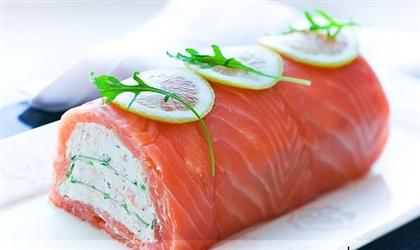 Террин из лосося и моцареллы