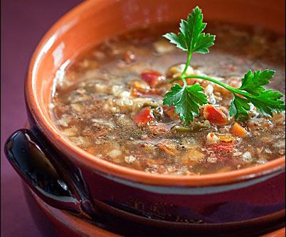 Суп из гречки с грибами