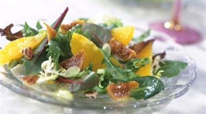 Салат из инжира  и апельсина