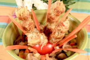 Люля-кебаб с зеленью и чесноком