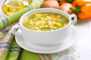 Весенний суп из овощей