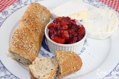 Чатни из клюквы и томатов черри (к мясу, птице, сырам)