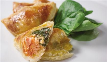 Пирожки с семгой, шпинатом и рикоттой по-норвежски