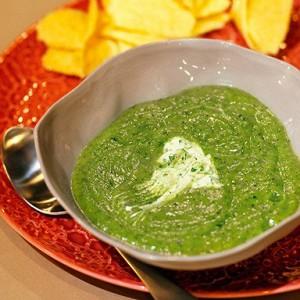 Суп из цукини с мятой