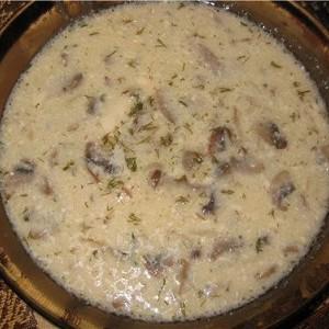 Суп из сушеных грибов с плавленым сыром