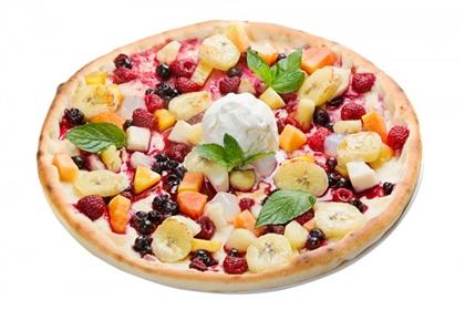 Фруктовая пицца с творогом