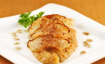 Куриное филе с яблоками