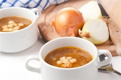 Луковый суп с сельдереем