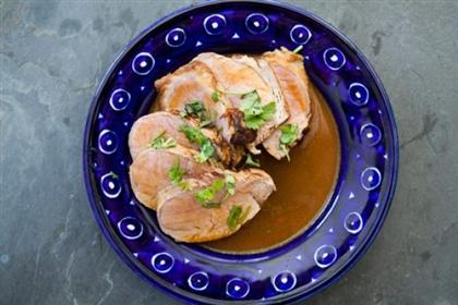 Свинина в цитрусовом соусе