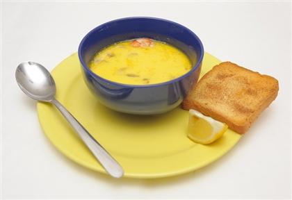 Легкий сырно-креветочный суп
